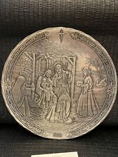 Wendell August Hammered Pewter Christmas Plate 2010 Christ Is Born New Box