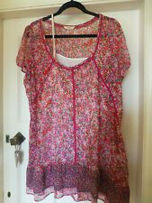 Scoop Neck Floral Plus Size Tops & Shirts for Women