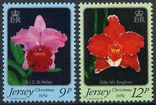 Jersey 1984 SG#350-1 Orchids, Christmas MNH Set #D7174