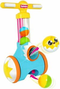 TOMY Toomies Pic & Pop Push Along Baby Toy Ball Popper With Ball launcher