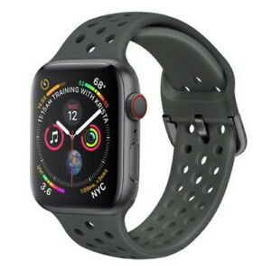 Rubber Compatible silicone metal Band Apple Watch Strap for iWatch SE/6/5/4/3/2