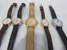 LOT OF 5 PREOWNED VINTAGE WATCHES UNTESTED TIMEX CARAVELLE MAXIM