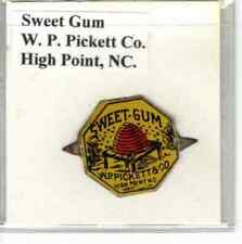 Tobacco Tag W. P. Pickett Co. High Point, NC. Sweet Gum