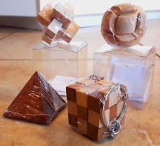 Rompicapo Puzzle 3D - 4 giochi di abilità e destrezza in legno