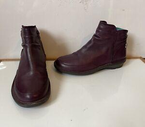 Moshulu Comfy Leather Boots Size UK 6 EU 39