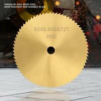 72 Teeth Circular Saw Blade Small Cutting Disc for Metal Wood Plastic 60*6mm
