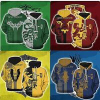 Harry Potter Gryffindor Zip Hoodie Pullover Sweatshirt Cosplay Costume Coat Tops