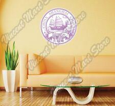 "Shanghai China Country Vintage Retro Wall Sticker Room Interior Decor 22""X22"""