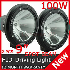 "2PCS 100W 9"" HID XENON Spotlight OFF ROAD Driving lights Lamp 9 INCH 4x4 4WD SUV"