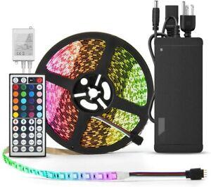 Flexible LED Strip Light 32.8 Ft 5050 RGB 300LEDsColor Changing Full Kit Remote
