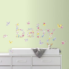 New Kathy Davis BABY BUTTERFLIES WALL DECALS Butterfly Nursery Stickers Decor