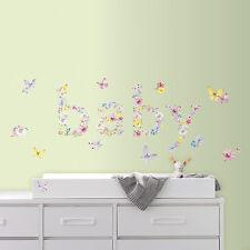 New Kathy Davis BABY BUTTERFLIES WALL DECALS Butterfly Nursery Stickers Decor