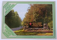 Great Smoky Mountains National Park Entrance  Postcard  C193