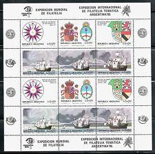 ARGENTINA 1984 MINIHOJA 1410/15 ESPAÑA 84 ARGENTINA 85 CARABELAS DE COLÓN