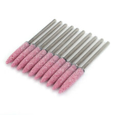 Pink 8mm Grinding Head Stone Wheel Polishing Rotary Tool Drill Bits 3mm Shank