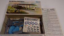 NICE FROG D.H 60G GIPSY MOTH BIPLANE 1/72 SCALE PLASTIC MODEL AIRPLANE KIT!!