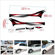 2 X Waterproof DIY Car SUV Body Side Decoration Sticker Vinyl Decal Red & Black