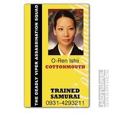Plastic ID Card (TV & Film Prop) - O-Ren Ishii COTTONMOUTH Kill Bill Assassin