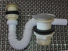 Flexibel Siphon Ablaufgarnitur Pop Up Ablaufventil Abfluss Ablauf Waschbecken NW