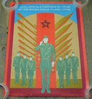 Authentic Soviet USSR Cold War Poster Rocket and Missile Men ICBM Forces