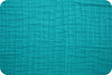 Shannon Fabrics Embrace Double Gauze - Teal Solid - by the yard & custom cuts