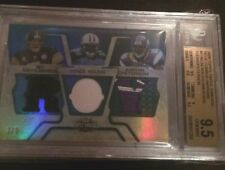 2008 Triple Threads Ben Roethlisberger Young Adrian Peterson #3/3 BGS Graded 9.5