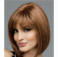 New Bob Ladies Girl Sexy Short Curly Fancy Dress Cosplay Costume Wigs/wig Brown