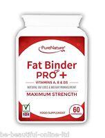 60 Fat Binder Pro Burner Strong Vegetarian Diet Slimming Pills + Vits A, D and E