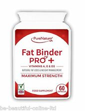 60 Fat Binder Pro Burner Strong Vegetarian Diet Slimming Pills + Vits A, D and E