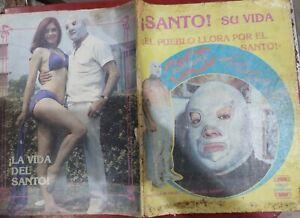 El SANTO : HIS LIFE MAGAZINE IN SPANISH RARE ITEM SPECIAL