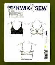 Misses/Women's Classic Bra Sewing Pattern (Sizes 32 AA to 40 DDD) Kwik Sew 3594