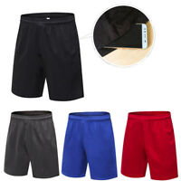 Mens Sports Running Soccer Jogger Shorts Gym with Pockets Moisture Wicking Baggy
