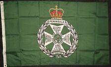 Royal Green Jackets Flag Light Infantry Regiment Rifles 5x3 British Army BN