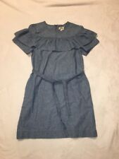 NWT J Crew Edie Dress in Chambray Sz 6 G0376 Sold Out!