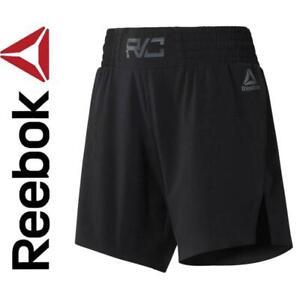 New Reebok Womens Combat Kickboxing Shorts  XS to XL Black mma workout