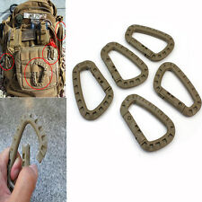 5Pcs Carabiner D-Ring Key Chain Clip Hook Molle Camping Buckle Snap Plastic New