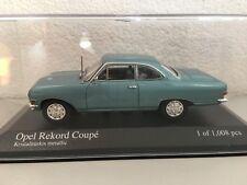 Minichamps 400041024 Opel Rekord A Coupé 1:43,Turquoise cristal,