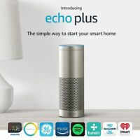 NEW! Amazon Echo Plus with Built In Smart Hub & Alexa (Silver)