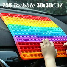 30cm Jumbo 256 Bubble Poppit Push Pop Fidget Toy Big Rainbow Sensory Fidget Toys