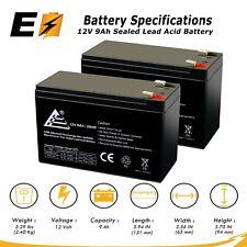 2 X 12V 9AH Battery for RAZOR Scooter E200 E300 ES300; Bella Betty Daisy Vapor