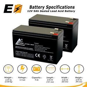 12V 9Ah SLA Battery for Razor MX350 & MX400 Dirt Bike - 2 Pack