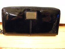 Cole Haan Zip Wallet Black Patent Leather Clutch
