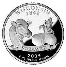 2004 S SILVER GEM PROOF WISCONSIN STATE QUARTER 90% SILVER