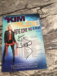 Kim Wilde Hand Signed Tour Leaflet