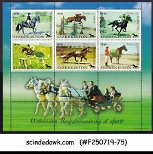 UZBEKISTAN - 1999 HORSE / ANIMALS / SPORTS - MINIATURE SHEET MNH