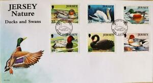 """Jersey Stamps: Jersey Nature """"Ducks & Swans"""" First Day Cover 2004"""