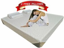 10 inch KING Luxury KoolComfort™ Medium Firm Memory Foam Mattress 2 FREE Pillows