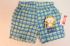 NEW Baby Boys Swim Suit Trunks Shorts 12 Months Lined Beach Monkey Green Blue