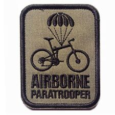 Airborne Paratrooper Bike MORALE BADGE USA ARMY MILITARY TACTICAL PATCH
