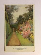 Oxfordshire Garden Flora Pilkington England Vintage Postcard Posted 1934